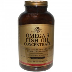 Рыбий жир в капсулах, Omega-3 Fish Oil, Solgar, 240капсул