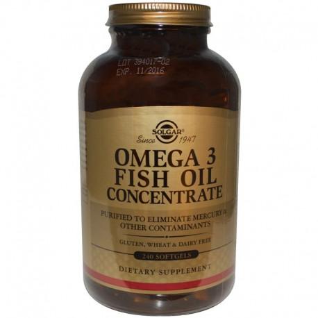Рыбий жир в капсулах, Omega-3 Fish Oil, Solgar, 240капсул
