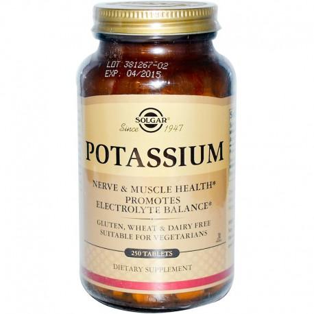 Solgar, Калий , Potassium, 250 таблеток