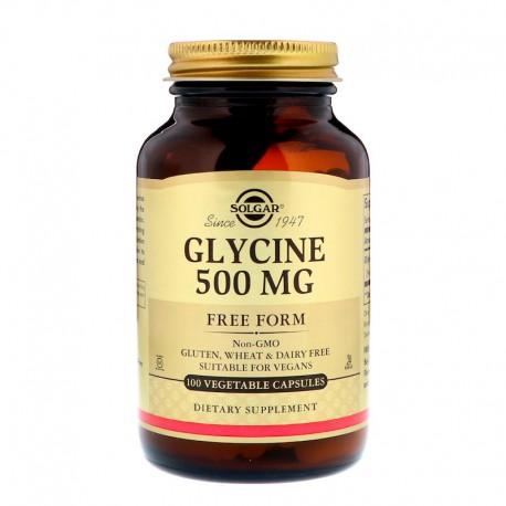 Solgar, Глицин, 500 мг, 100 капсул на раст. основе
