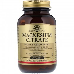 Цитрат магния. Solgar, Magnesium Citrate, 60 Tablets