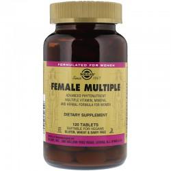 Solgar, витамины для женщин. Female Multiple.  120 таблеток