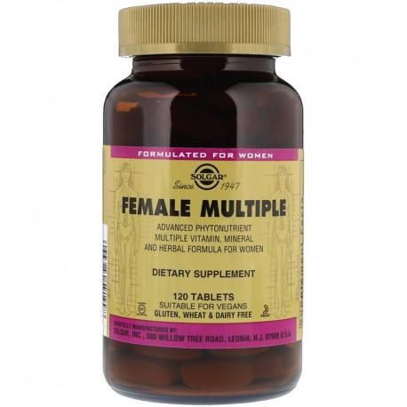 Витамины для женщин. Female Multiple. Solgar, 120 таблеток