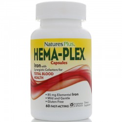 Nature's Plus, Hema-Plex, 60 вегетарианских капсул