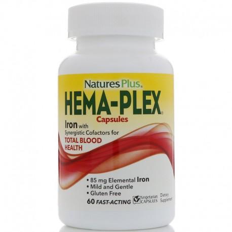 Nature's Plus, Hema-Plex, 60 вегетарианских капсул