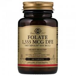Solgar, Фолат в виде метафолина, 800 мкг, 100 таблеток