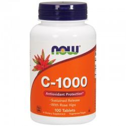 Now Foods, Витамин C-1000, 100 таблеток