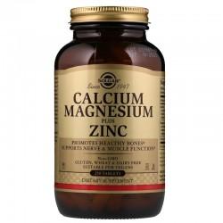 Solgar, Кальций магний цинк (Calcium Magnesium),  250 таблеток
