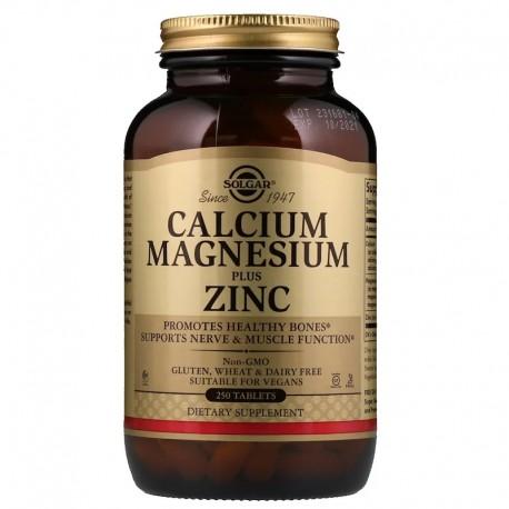 Кальций магний цинк (Calcium Magnesium), Solgar, 250 таблеток