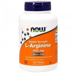 Now Foods, L-аргинин, двойное действие, 1000 мг, 120 таблеток