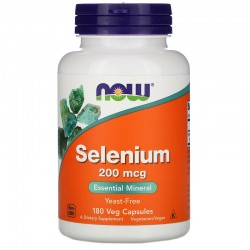 Now Foods, Селен, 200 мкг, 180 растительных капсул