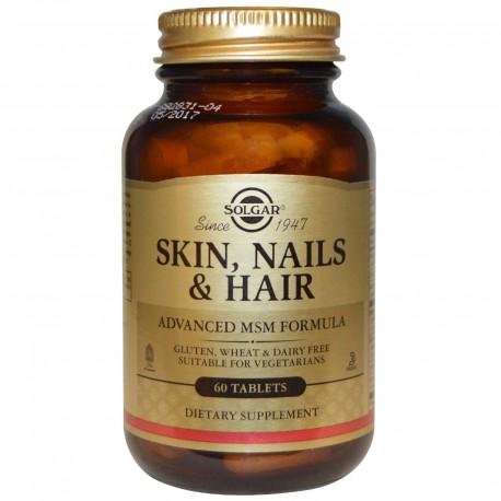 Витамины для кожи, волос и ногтей, Solgar, 60 таблеток