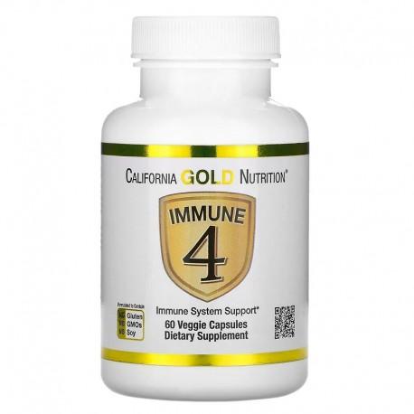 California Gold Nutrition, Immune4, средство для укрепления иммунитета, 60 растительных капсул