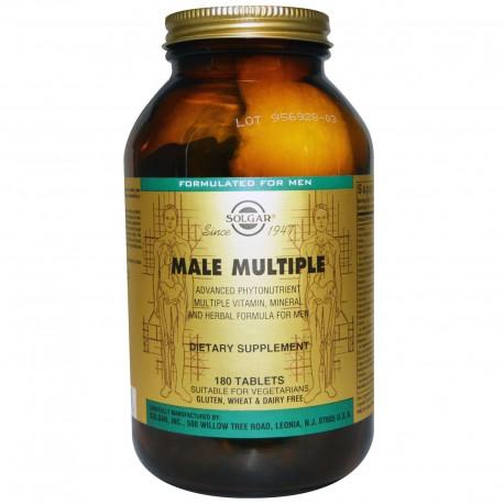 Витамины для мужчин (Male Multiple), Solgar, 180 таб.
