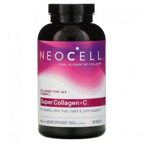 Neocell, Super Collagen+C, 1 и 3 типов, 6000 мг, 360 таблеток
