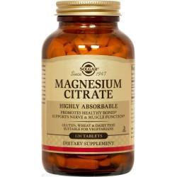 Цитрат магния, Magnesium Citrate, Solgar, 120 таблеток