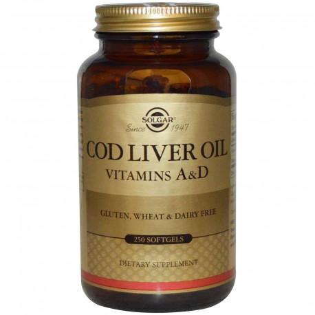 Solgar, Norwegian Cod Liver Oil, Норенжский рыбий жир, 250 Softgels